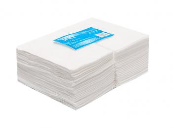Салфетка одноразовая 20*30 спанлейс белый White line 100шт пачка